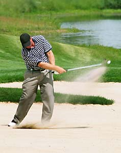 Practicing bunker shots can improve your rhythm and tempo